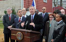 Governor O�Malley announces his plan to protect Maryland homeowners