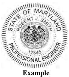Sample Professional Engineer's Seal